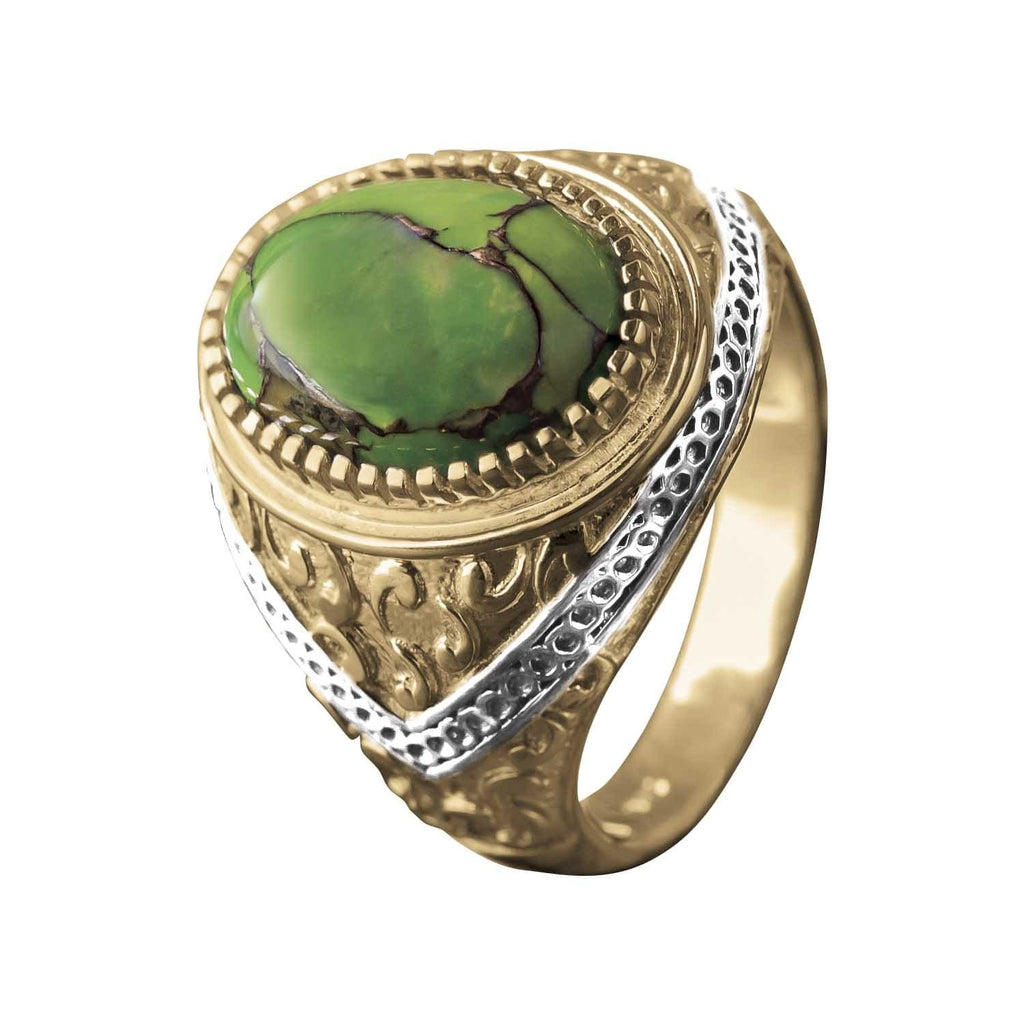 Green Copper Turquoise Ring