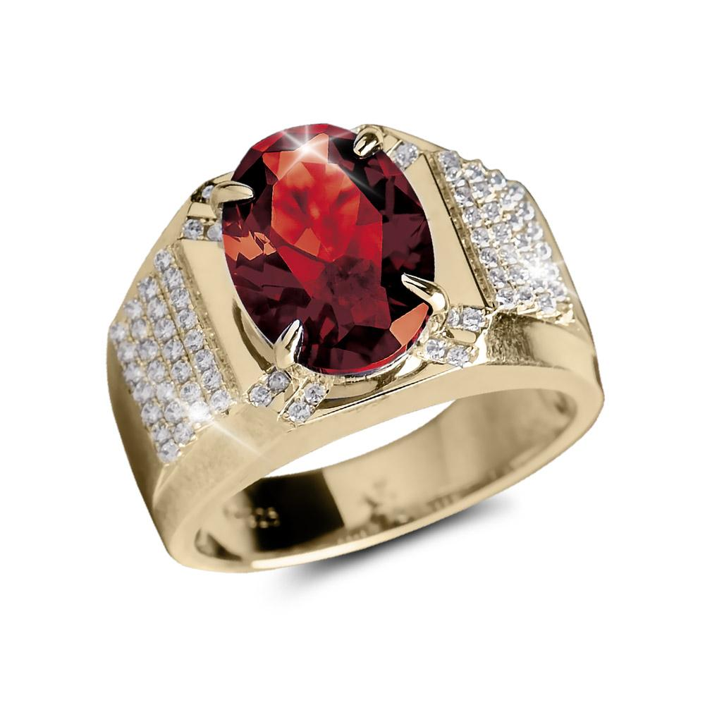 Tsar Men's Red Ring