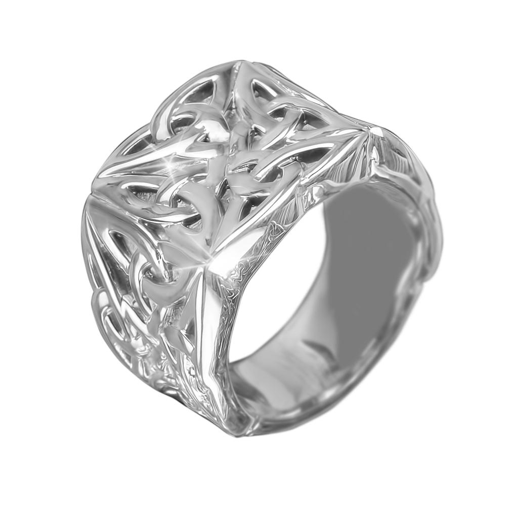Celtic Knot Steel Men's Ring