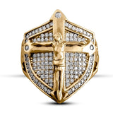 Crucifix Shield Ring