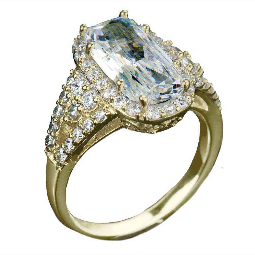 Glacier Gold Ring