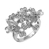 Bouquet Rhodium Ring