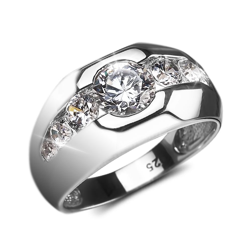 Rhodium Reflex Men's Ring