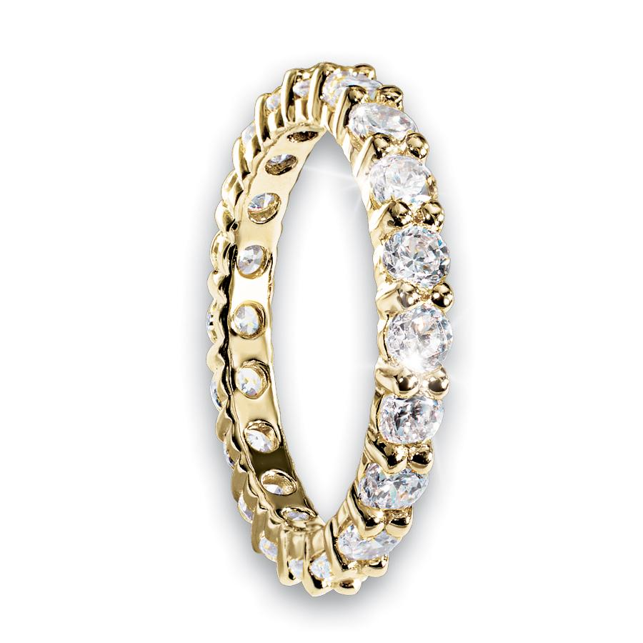 Gold Millionaire Tennis Eternity Ring
