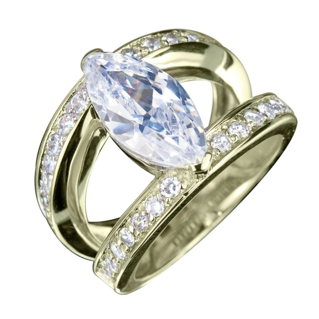 Marquise Strata Gold Ring