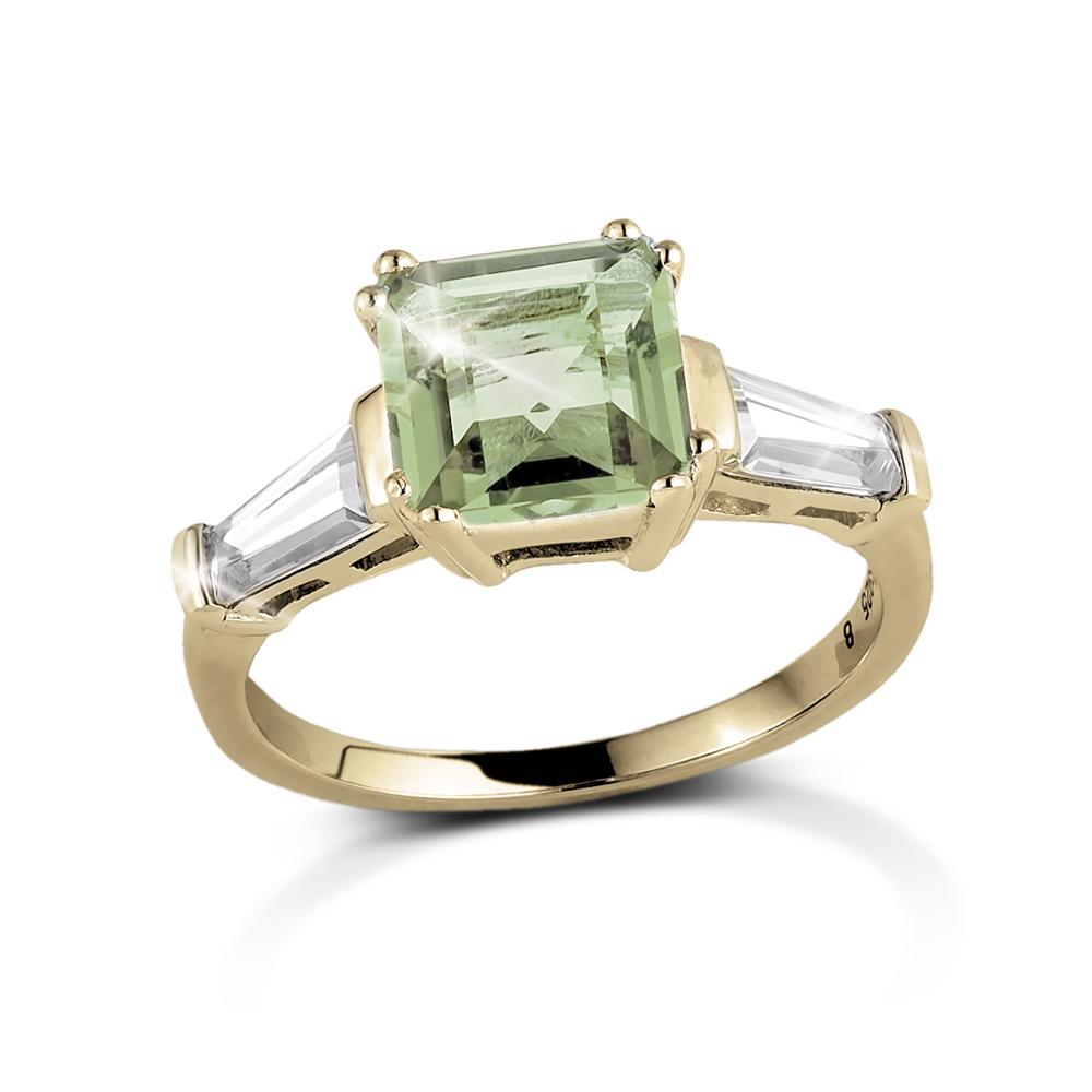 Decadence Gem Ring Green Amethyst