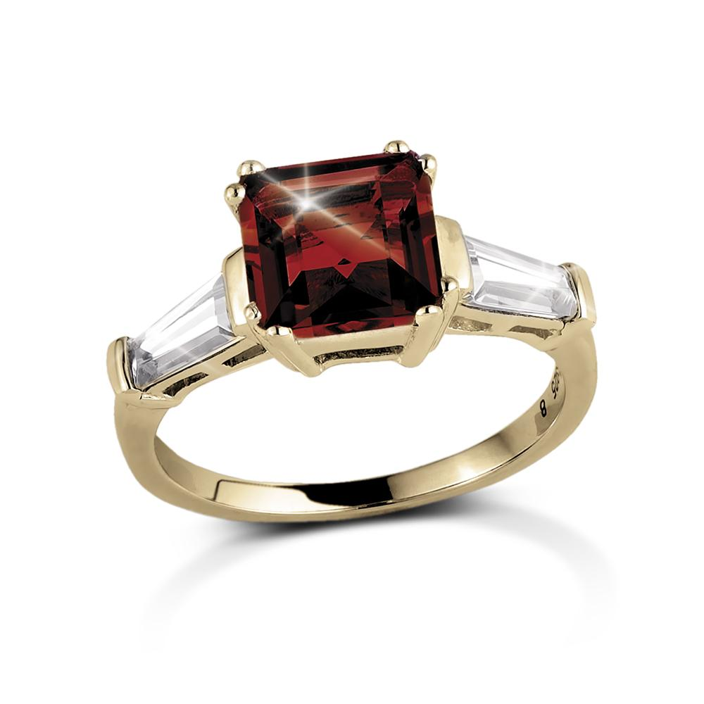 Decadence Gem Ring Red Garnet
