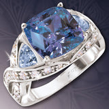 Blue Topaz Palace Ring