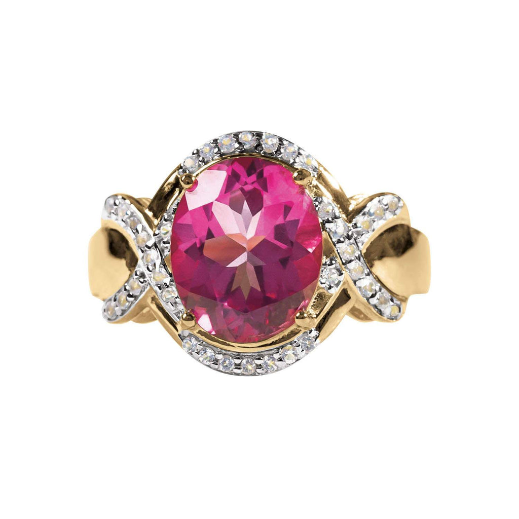 Dauphine Pink Topaz Ring