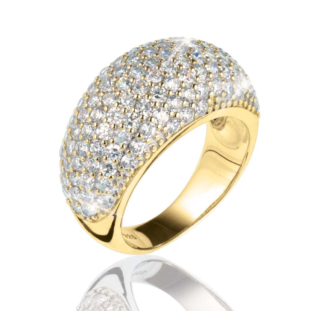 Pave Vienna Ring Gold