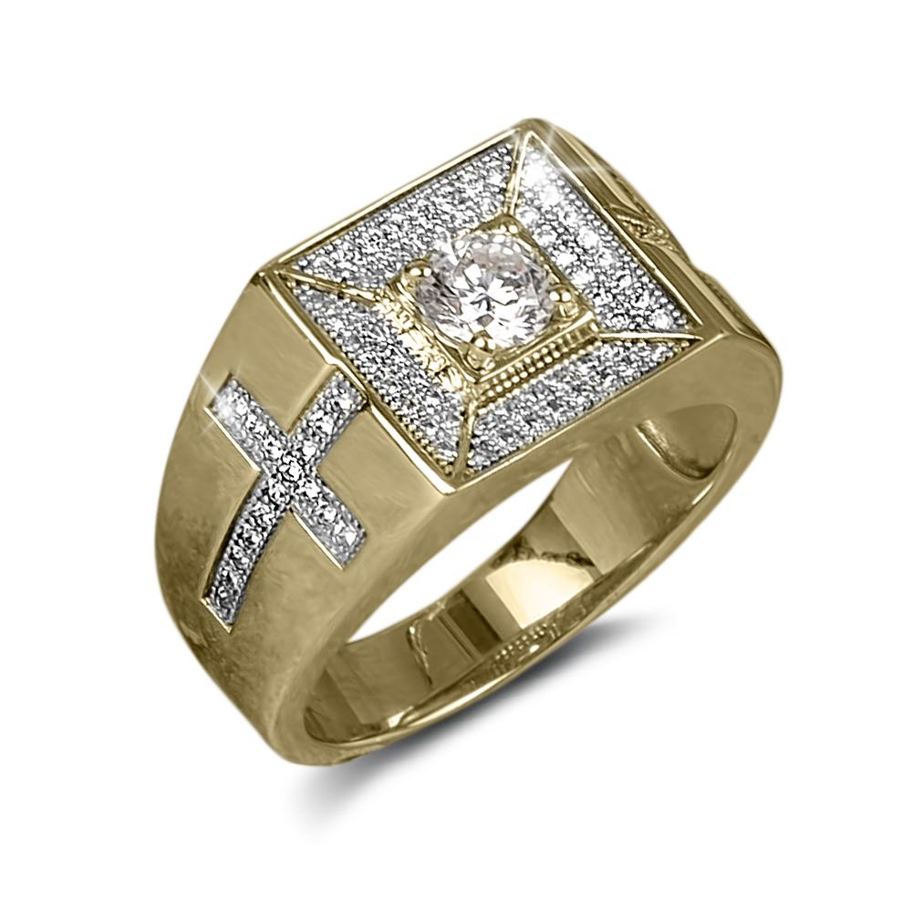 Roma Cross Men's Ring