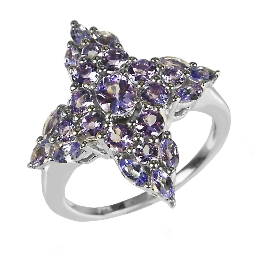 Tanzanite Cross Ring