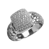 Star Spangled Rhodium Ring
