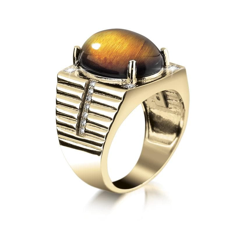 Tigers Eye Men's Ring