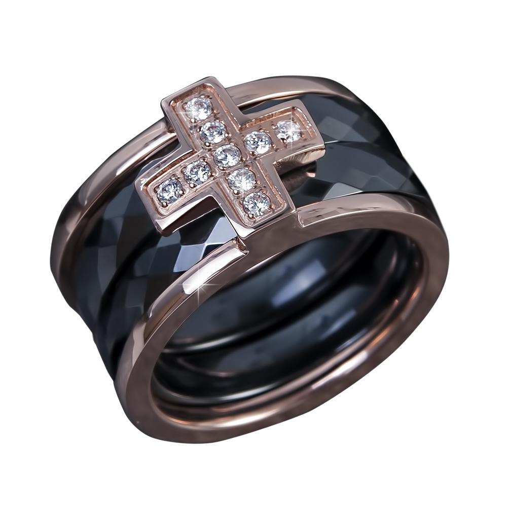 Ceramica Cross Men's Ring