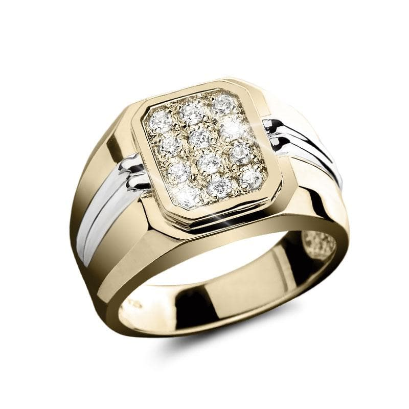 Essential Men's Two Tone Ring