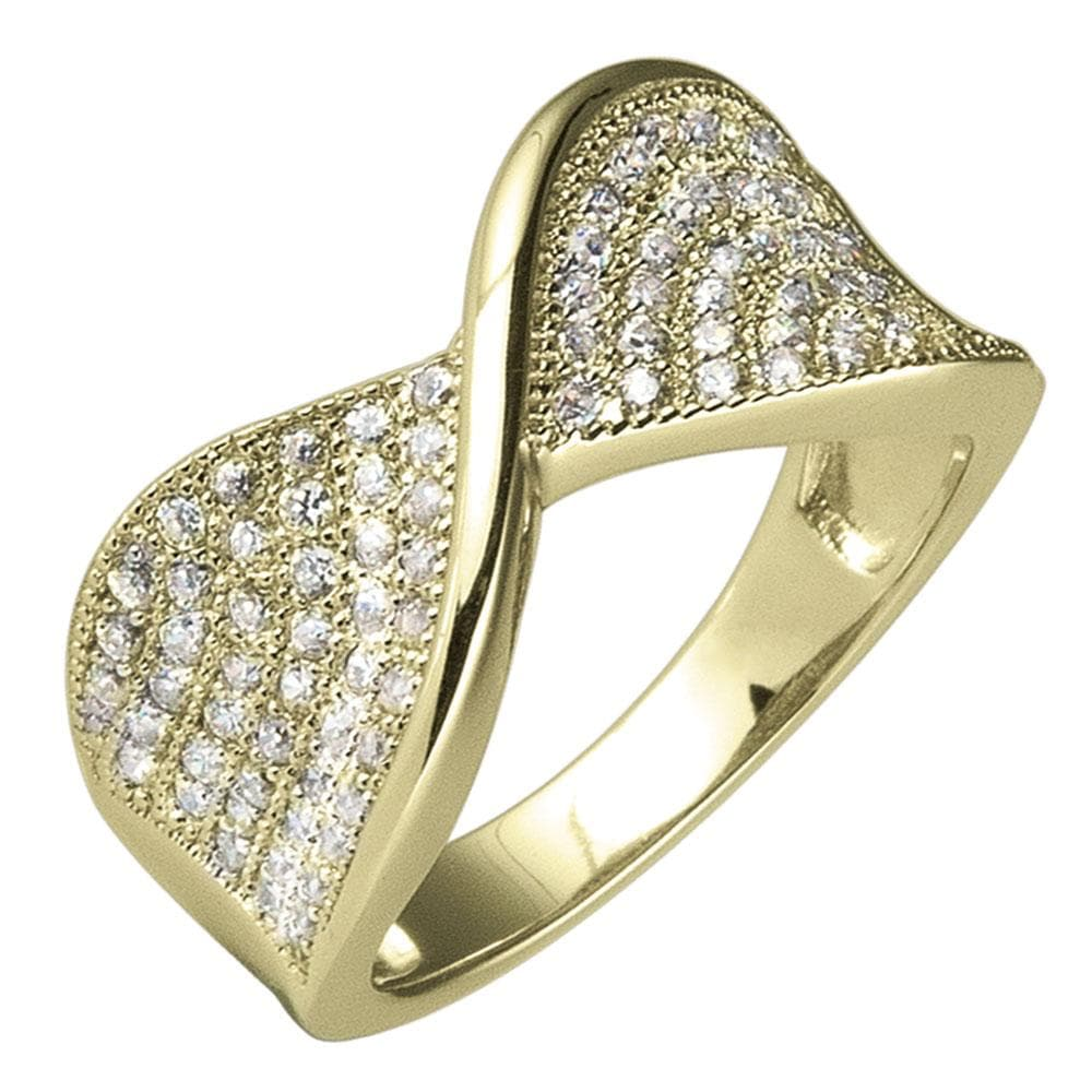 Pave Twist Gold Ring