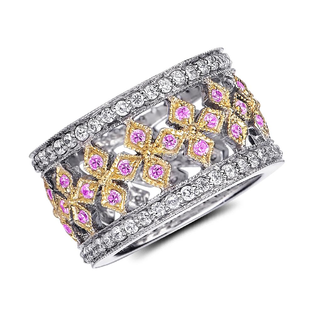 Filigree Finesse Candy Pink Ring
