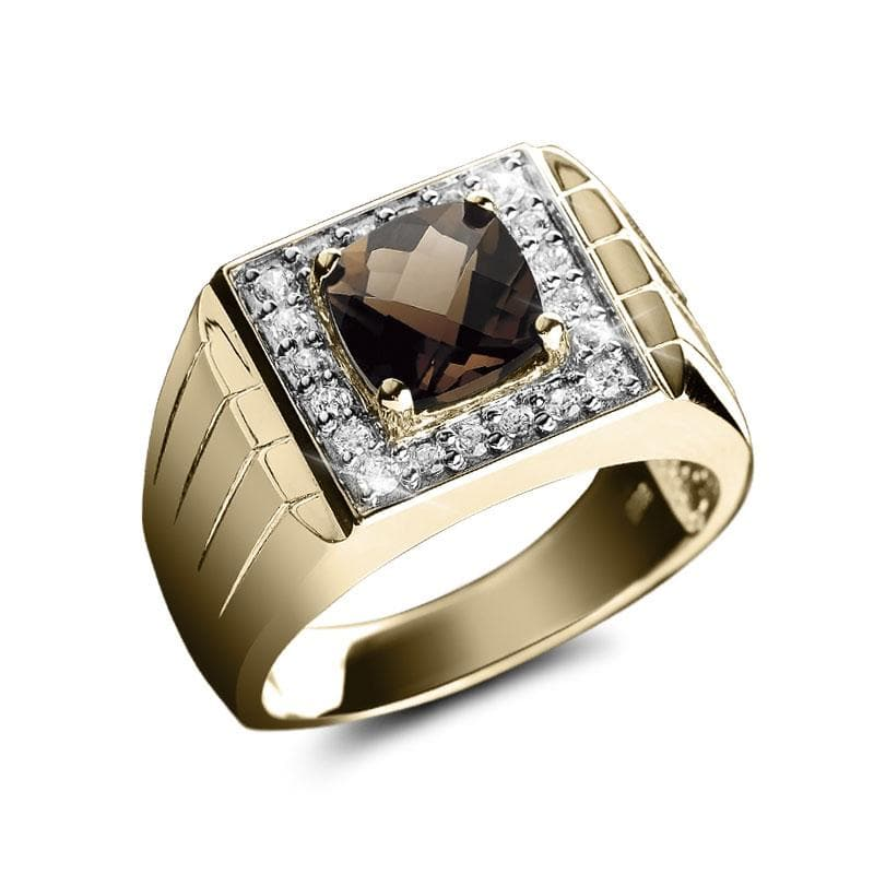 Smoky Quartz Men's Ring