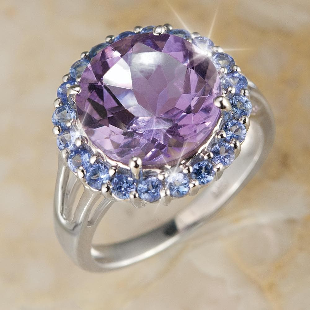 Amethyst & Tanzanite Cocktail Ring