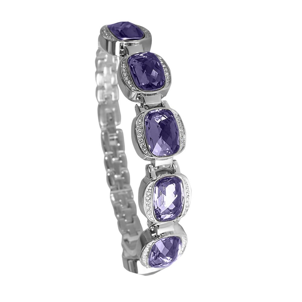 Riviera Purple Crystal Bracelet