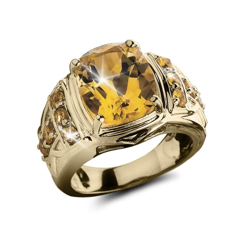 Sunset Citrine Men's Ring