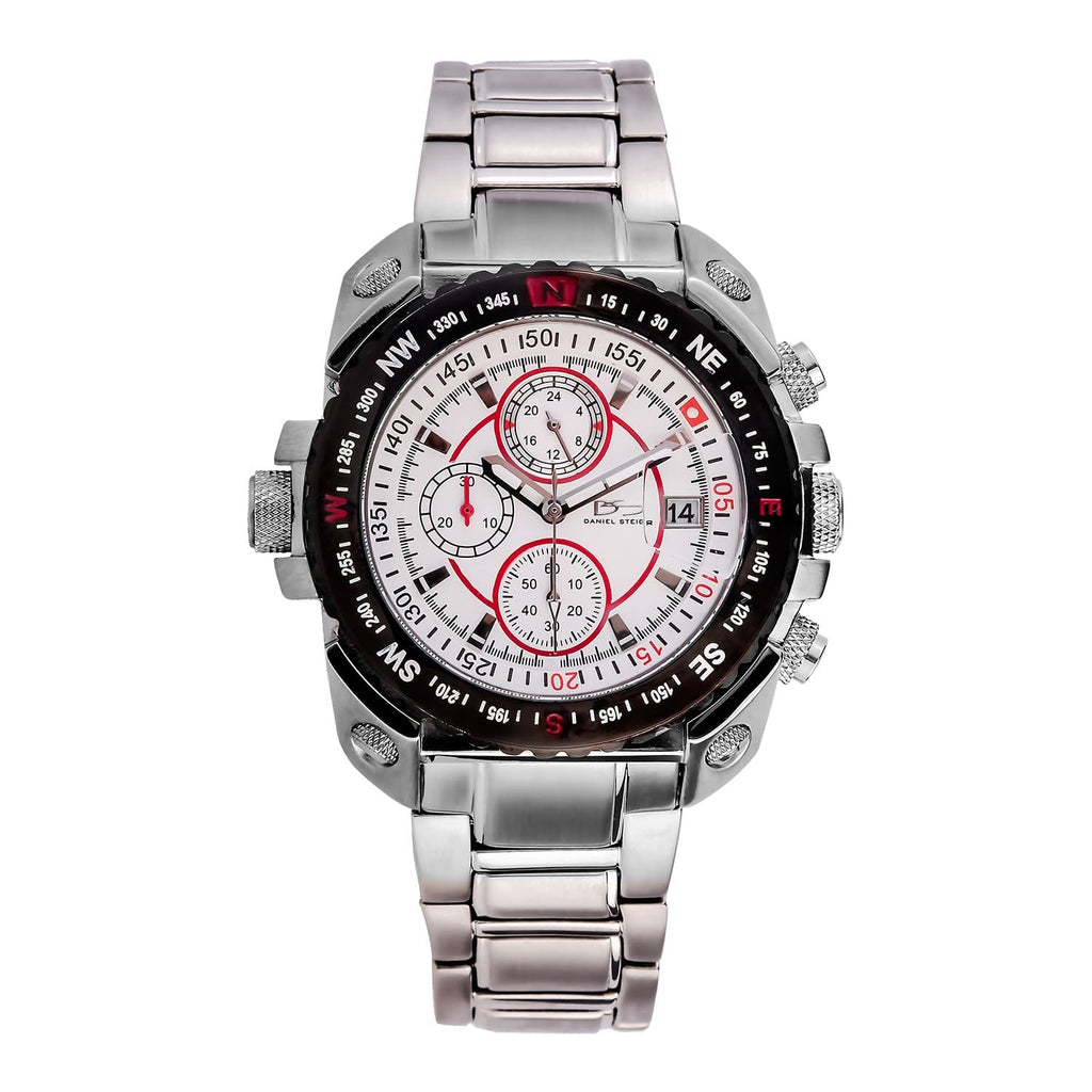 Premium Grade Solid Stainless Steel Worldmaster Watch With Complex Precision Quartz Movement & Chronograph