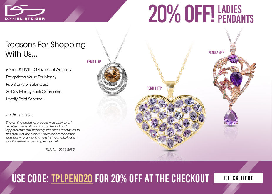 Ladies Pendant Promotion Banner
