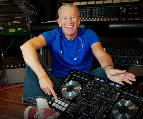 Richard Blade poses with Pioneer DDJ Controller
