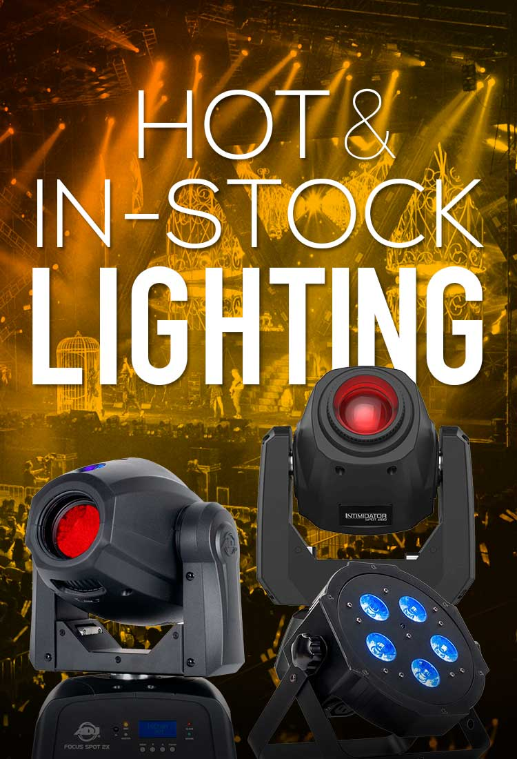 Hot & In-Stock Lighting from top brands ADJ, Chauvet & Eliminator