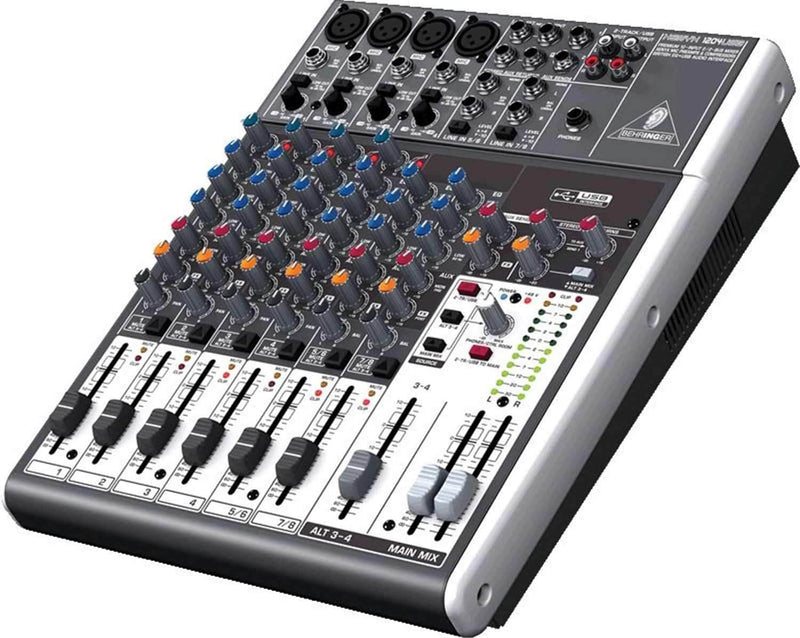 Behringer Xenyx 1204USB Mixer 8-Channel PA Mixer - ProSound and Stage Lighting