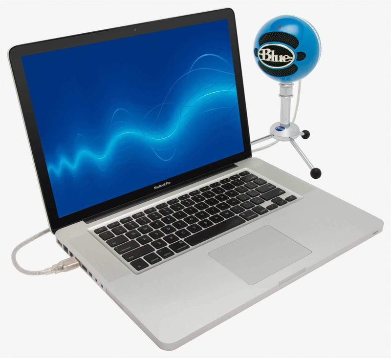 Blue Snowball Pack USB Mic with Stand and Cable in Electric Blue - ProSound and Stage Lighting