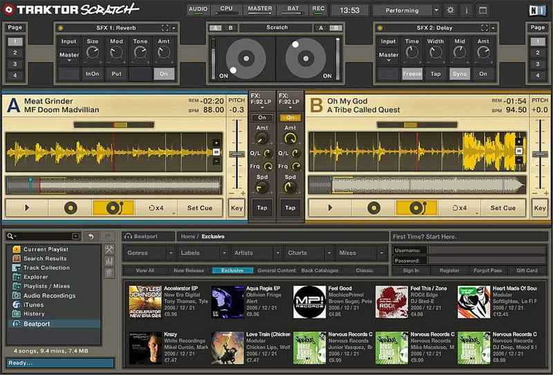 Traktor Scratch Certified Mixer Software Kit - ProSound and Stage Lighting