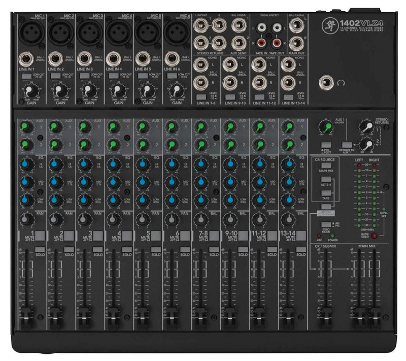 Mackie 1402 VLZ4 14-Channel PA Mixer - PSSL ProSound and Stage Lighting