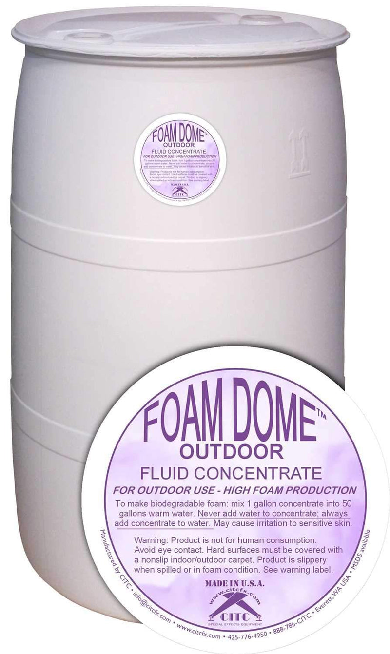 CITC Foam Dome Fluid OD Concentrate 55 Gal Drum - PSSL ProSound and Stage Lighting