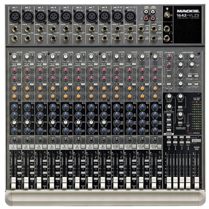 Mackie 1642-VLZ3 Premium 16-Ch Compact Mixer - PSSL ProSound and Stage Lighting