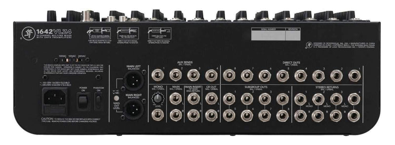 Mackie 1642 VLZ4 16 Ch 4 Bus PA & Recording Mixer - PSSL ProSound and Stage Lighting