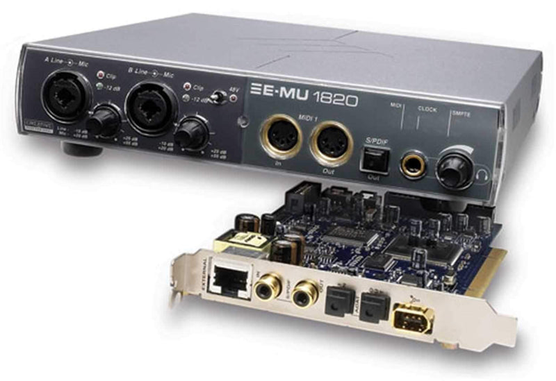 EMU 1820 24/192K 18In/20Out Pci Audio Interface - ProSound and Stage Lighting