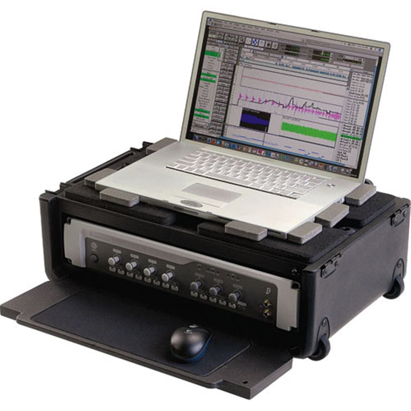 SKB 1SKB19RSF2U 2U Studio Rack with Laptop Storage - ProSound and Stage Lighting