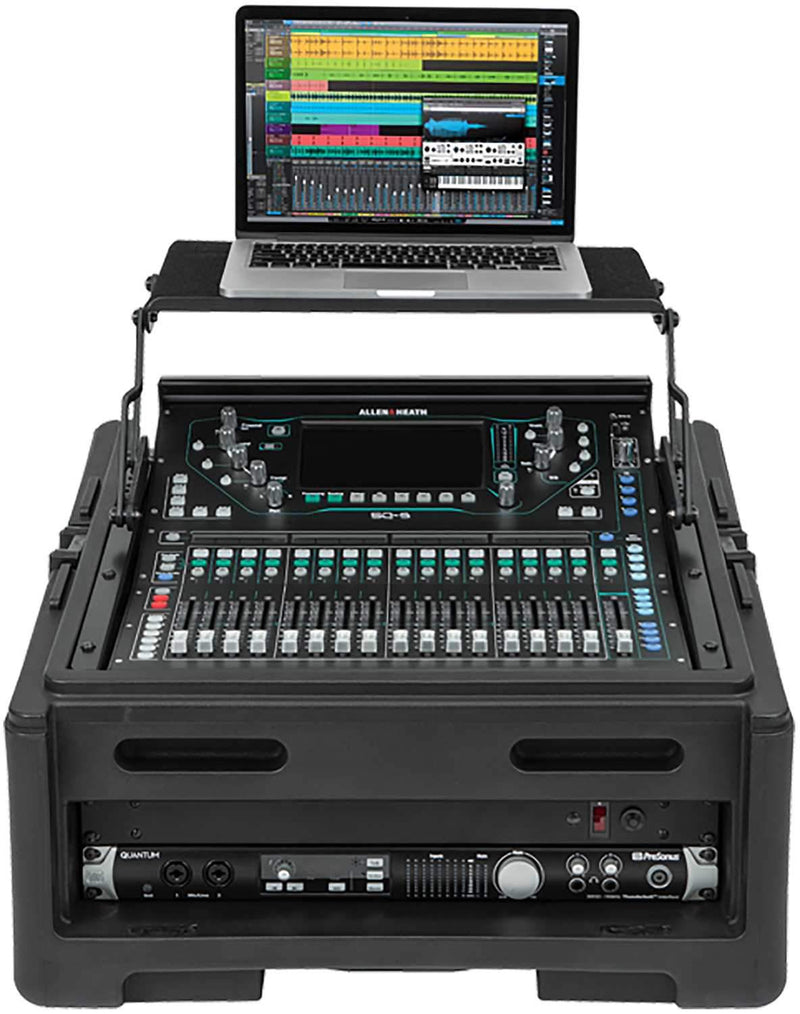 SKB 1SKB-R102W 10U x 2U Rolling Compact Rack Rig - PSSL ProSound and Stage Lighting