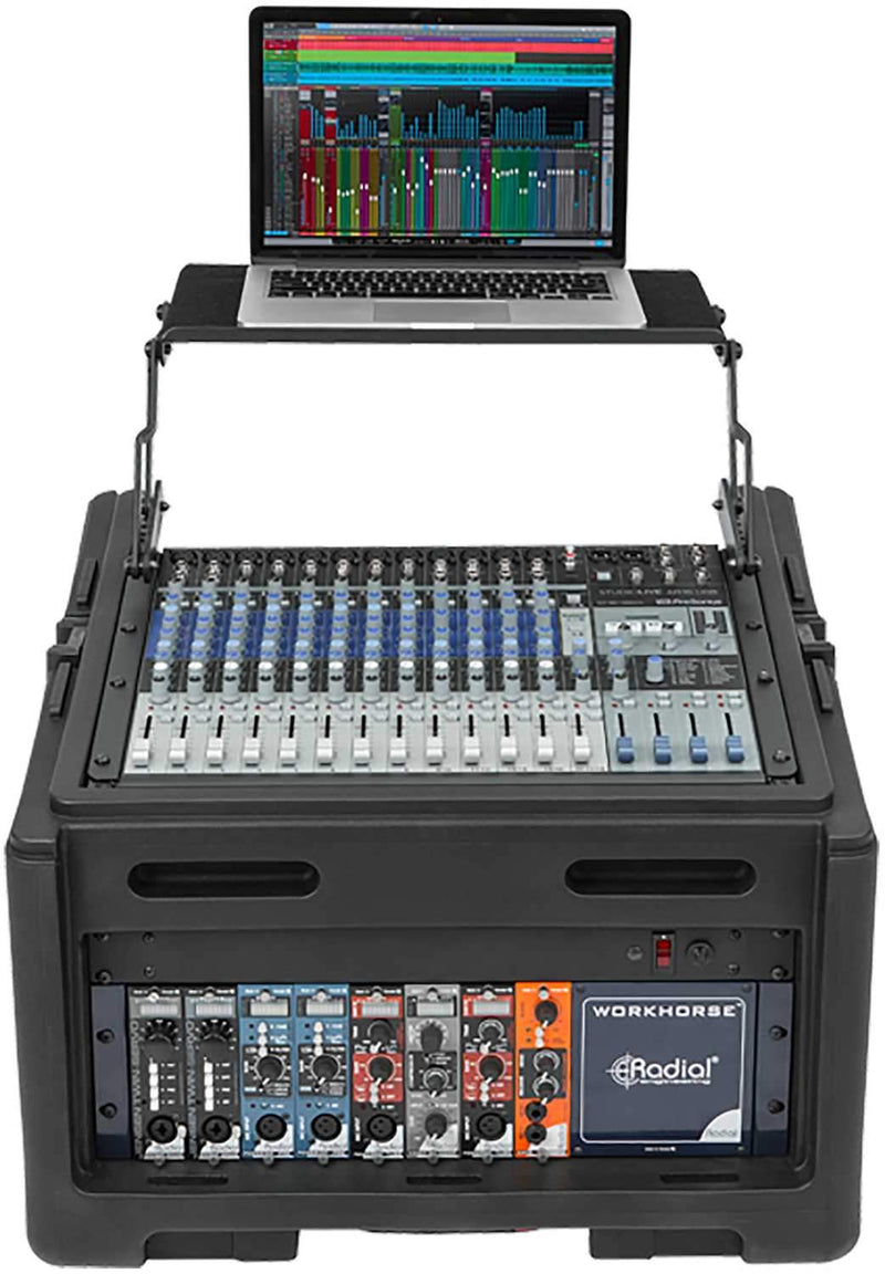 SKB 1SKB-R104W 10U x 4U Rolling Compact Rack Rig - PSSL ProSound and Stage Lighting