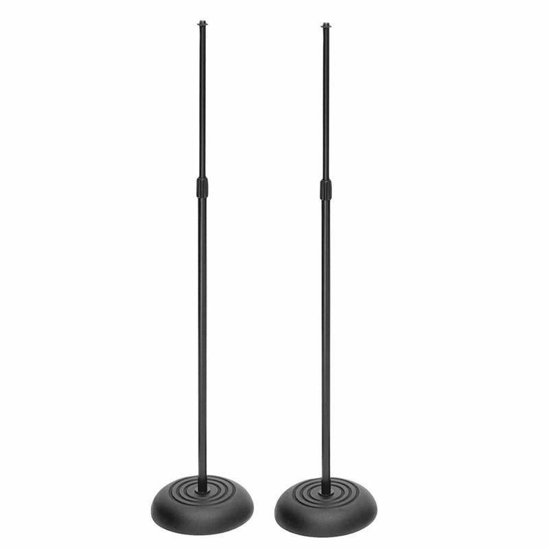 Two Pack Professional Round Base Mic Stand - PSSL ProSound and Stage Lighting