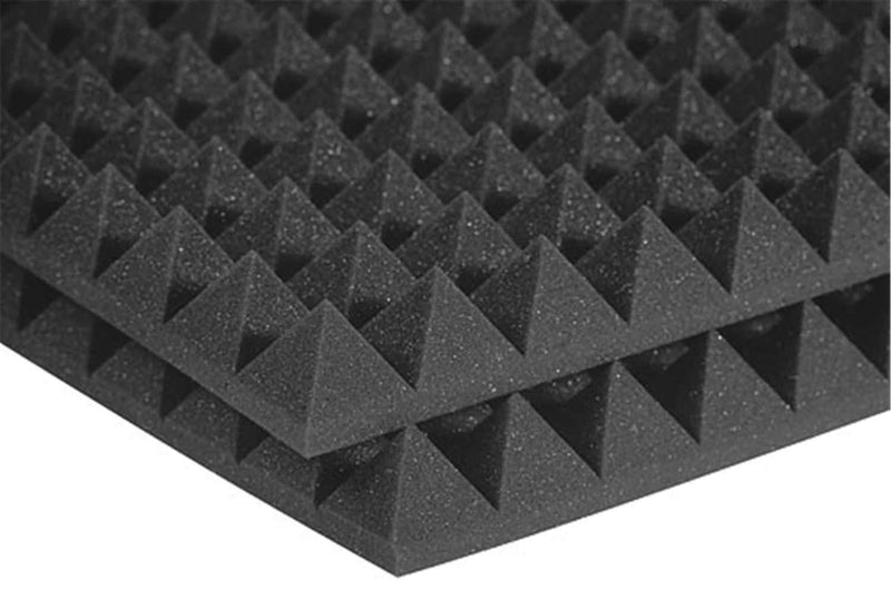 Auralex Pyramid Charcoal Acoustic Studio Foam 12-Pack - ProSound and Stage Lighting