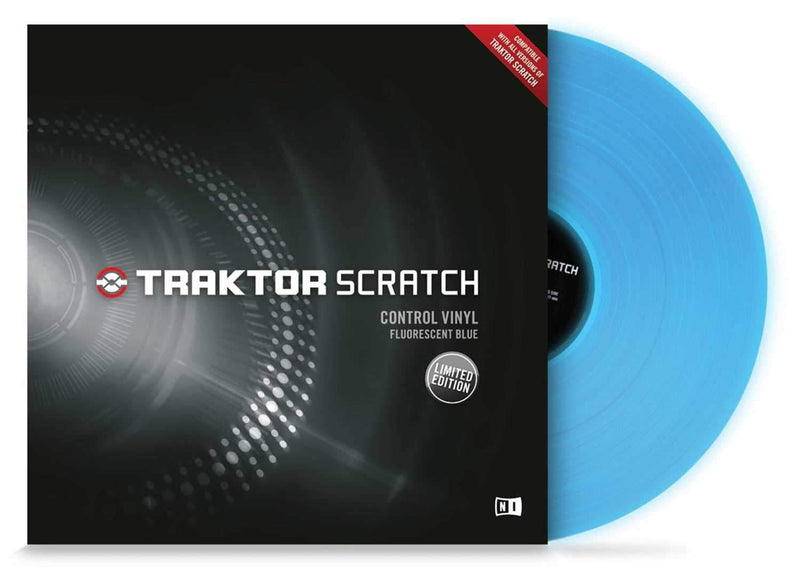 NI Traktor Scratch Vinyl - Fluorescent Blue - PSSL ProSound and Stage Lighting