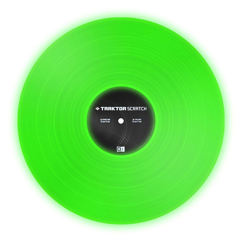 NI Traktor Scratch Vinyl - Fluorescent Green - PSSL ProSound and Stage Lighting