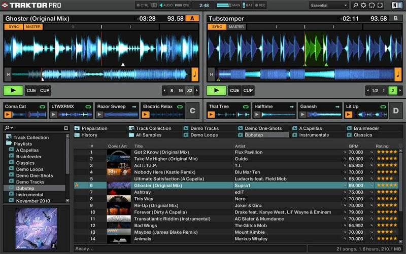 NI Traktor PRO 2 DJ Software - PSSL ProSound and Stage Lighting