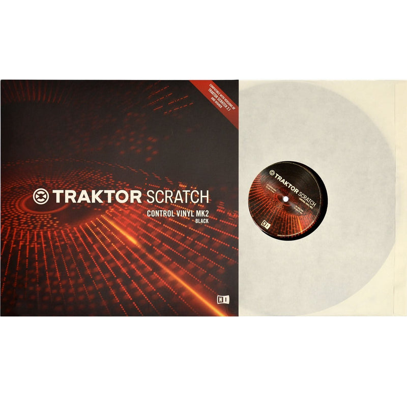 NI Traktor Scratch Pro Control Vinyl MK2 Black - PSSL ProSound and Stage Lighting