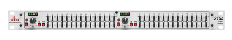 DBX 215S Dual Channel 15 Band Graphic Equalizer - ProSound and Stage Lighting