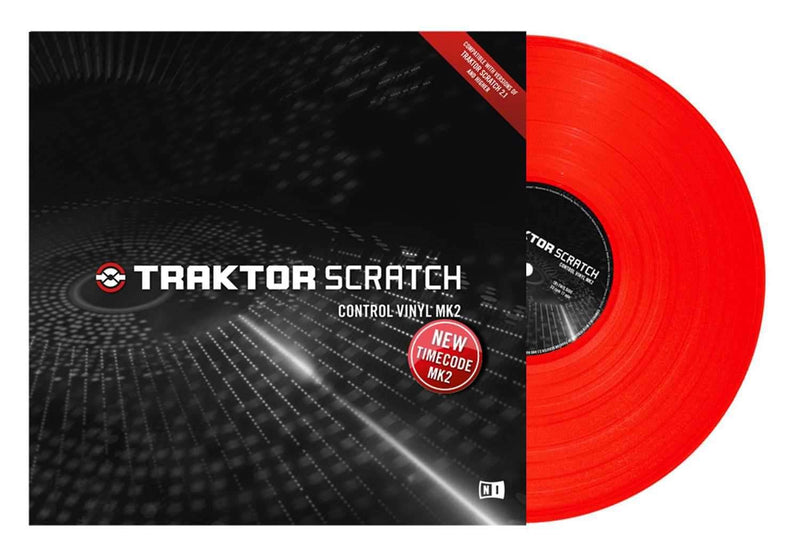 NI Traktor Scratch Pro Control Vinyl MK2 Red - PSSL ProSound and Stage Lighting