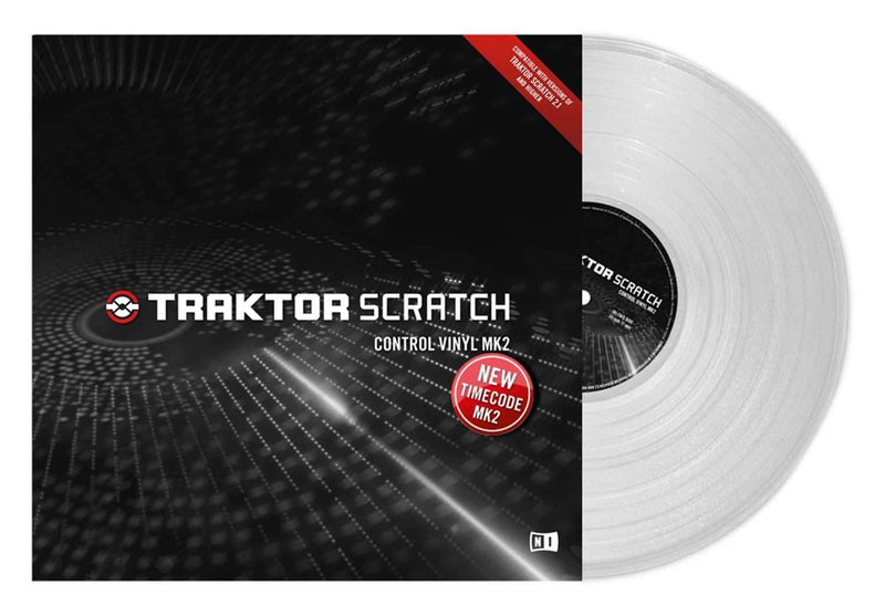 NI Traktor Scratch Pro Control Vinyl MK2 Clear - PSSL ProSound and Stage Lighting